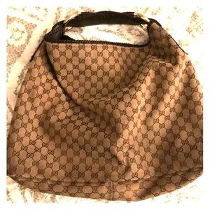 Large Gucci horsebit hobo bag authentic